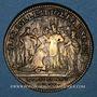 Münzen Champagne - Reims. Sacre de Louis XV. Jeton laiton 1723