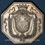 Münzen de Choiseil L.-M., baron et capitaine de la garde du dauphin. Jeton argent octogonal 1771