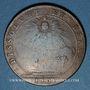 Münzen Etats de Bourgogne. Félix Sonois, maire de Nuitz, élu du Thiers. Jeton cuivre 1701