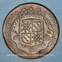 Münzen Etats de Bourgogne. Jeton cuivre 1707