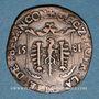 Münzen Franche-Comté. Besançon. Chambre des comptes. Charles Quint. Jeton cuivre 1581
