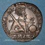 Münzen Franche-Comté. Besançon. Chambre des comptes. Charles Quint. Jeton cuivre 1592