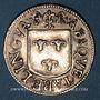 Münzen Franche-Comté. Besançon. Co-gouverneurs. Hugues Belin. Jeton cuivre argenté 1669