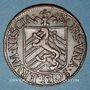 Münzen Franche-Comté -Besançon. Co-gouverneurs. Jean-Frédéric Fiard. Jeton cuivre 1666