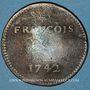 Münzen François GUIOT. Jeton cuivre 1742
