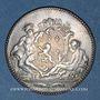 Münzen Lyon. Académie Littéraire. Jeton argent 1700. Date en chiffres arabes