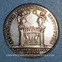 Münzen Lyon. Académie Littéraire. Jeton argent 1700. Var avec date en chiffres romains