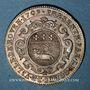 Münzen Normandie. Charles-François-Frédéric de Montmorency-Luxembourg, gouverneur. Jeton argent 1709