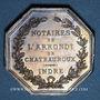Münzen Notaires. Chateauroux. Jeton argent. Poinçons : abeille et ARGENT