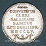 Münzen Paris. Assemblée du Clergé de France. Louis XV. Jeton argent 1755