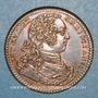 Münzen Paris. Trésor royal. Louis XV. Jeton cuivre 1733