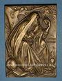Münzen 3e Congrès Mondial de Cardiologie. Bruxelles. 1958. PLaquette bronze. 50,33 x 70,54 mm