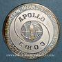 Münzen Apollo-Soyouz Test Project. Médaille argent. 38,8 mm
