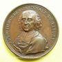 Münzen Cardinal de Fleury. Préliminaires du Traité de Vienne 1736. Médaille bronze 54 mm gravée par Dassier