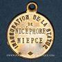 Münzen Chalon-sur-Saône (Bourgogne, Saône et Loire). Inauguration de la statue de Nicéphore Niepce. 1885
