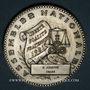 Münzen Chambre des députés. Médaille d'Identité. 1981. Argent. Gravée par J. Mauviel