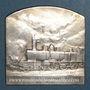 Münzen Compagnie des Chemins de fer du Midi. Médaille en argent. 43 x 43 mm. Gravée par Deschamps