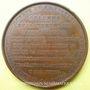 Münzen Consulat. Colonne du département de la Seine. 1800. Médaille en bronze. 60,4 mm. Gravée par Gatteaux