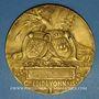 Münzen Crédit Lyonnais. 30 ans de services. 1910. Médaille en bronze doré. 80,5 mm. Gravée par Ch. Pillet