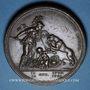 Münzen Etats Unis. Libertas Americana. 1776. Médaille bronze. 48 mm