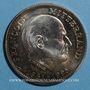 Münzen François Mitterand, Président (1981-1995). Médaille argent. 41 mm.