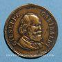 Münzen Giuseppe Garibaldi (1807-1882) et Umberto I d'Italie. Médaille laiton