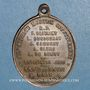 Münzen Hommage aux cinq jésuites assassinés par la Commune en 1871. Médaille bronze