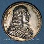 Münzen Jean-François Sarrasin, poète (1604-1654). Médaille argent gravée par Dassier