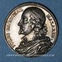 Münzen Jules Mazarin, homme d'Etat (1602-1661). Médaille argent gravée par Dassier