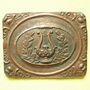 Münzen Lille. Concours de 1855. Médaille en étain cuivré. 57 x 73 mm. N° IIII