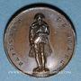 Münzen Louis Philippe. Rétablissement de la statue de Napoléon sur la colonne Vendôme. 1831.Médaille bronze