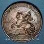 Münzen Louis XIV. Prise de Brisach. 1703. Médaille cuivre. 41,3 mm