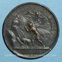 Münzen Louis XIV. Prise de Dôle. Médaille en bronze 1668