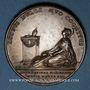 Münzen Louis XV. Déclaration de la maladie du roi le 17 août 1744 à Metz. Médaille cuivre. 41,7 mm