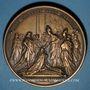 Münzen Louis XV. Sacre à Reims 1722. Médaille bronze. Refrappe