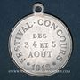 Münzen Luxeuil-les-Bains (Franche-Comté, Haute-Saône). Festival-concours 1912. Médaille en aluminium
