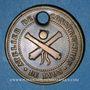 Münzen Lyon. Atelier de Construction de Lyon. Plaque d'accès. Bronze. 36 mm