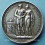 Münzen Mariage à Paris de Napoléon I avec Marie-Louise d'Autriche. 1810. Médaille en argent. 32 mm