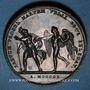Münzen Mariage à Paris de Napoléon I avec Marie-Louise d'Autriche. 1810. Médaille en bronze. 43 mm