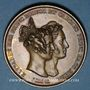 Münzen Mariage du Prince de Hesse-Darmstadt et de la Princesse Elisabeth de Prusse. 1836. Médaille bronze