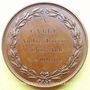 Münzen Meaux. Société d'Agriculture, Sciences et Arts. 1843. Médaille en bronze. 51,2 mm