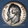Münzen Ministère de l'Instruction Publique. Bureaux d'administration des lycées. Médaille argent