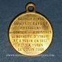Münzen Mort du Comte de Cavour. 6.6.1861. Médaille cuivre jaune à bélière. 23,6 mm