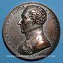 Münzen Mort du duc d'Enghien. 1804. Médaille en bronze argenté. 40,6 mm. Gravée par E. Gatteaux