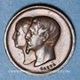 Münzen Naissance du Prince impérial. 1856. Médaille en bronze. 14 m. Gravée par Caqué