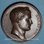 Münzen Napoléon I. Prise de Vienne et de Presbourg. 1805. Médaille cuivre. 40,6 mm. Gravée par Andrieu...