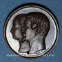 Münzen Napoléon III. 1ère Fête impériale. 15.8.1853. Médaille cuivre rouge