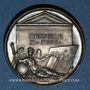 Münzen Nicolas Poussin, peintre (1594-1665). Médaille argent gravée par Dassier
