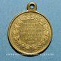 Münzen Paris. Exposition universelle. 1867. Médaille cuivre jaune à bélière. 23,1 mm