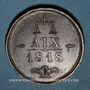 Münzen Russie. Alexandre I. Congrès d'Aix-la-Chapelle. 1818. Médaille bronze
